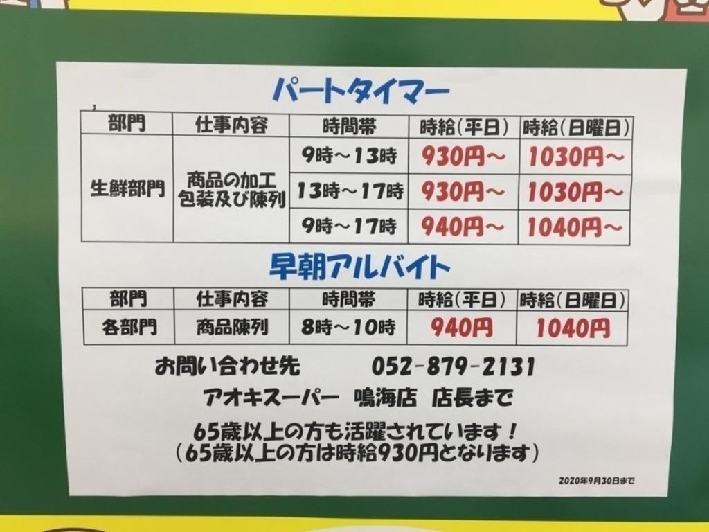スーパー 鳴海 アオキ
