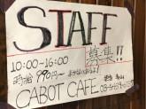 美味しいまかない有り☆『カボットカフェ』でスタッフ募集中!