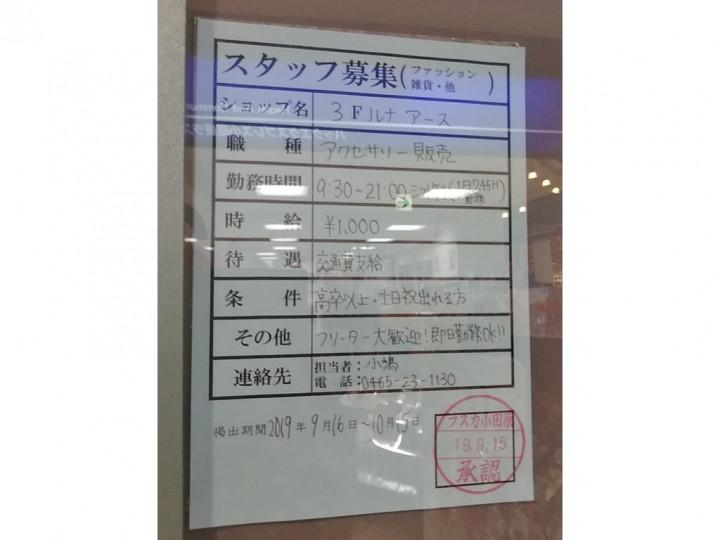 LUNA EARTH(ルナアース) ラスカ小田原店のアルバイト・パート